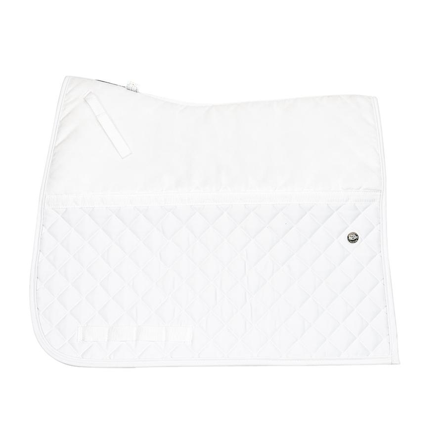 Friction Free Square Cut Dressage Pad (White)