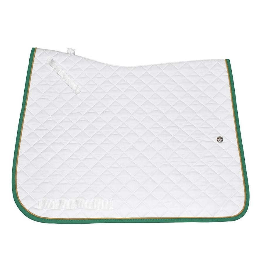 Dressage Profile Pad (White/Gold/Kelly Green)