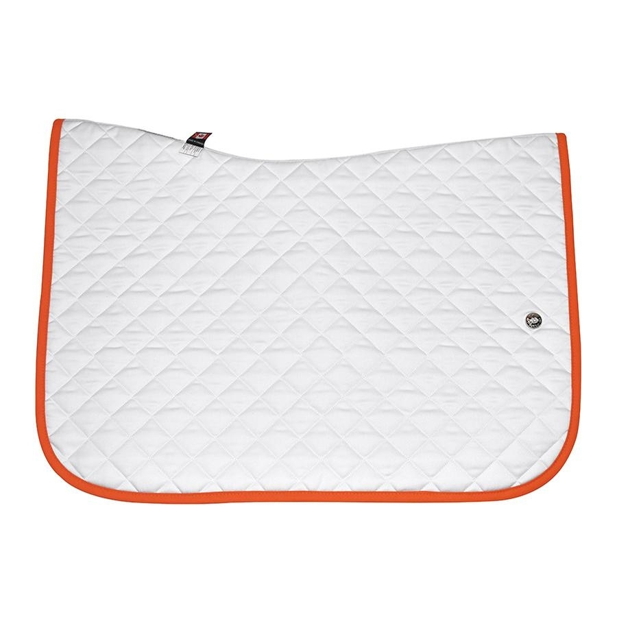 Jump Baby Pad without Girth Loops (White/Burnt Orange)