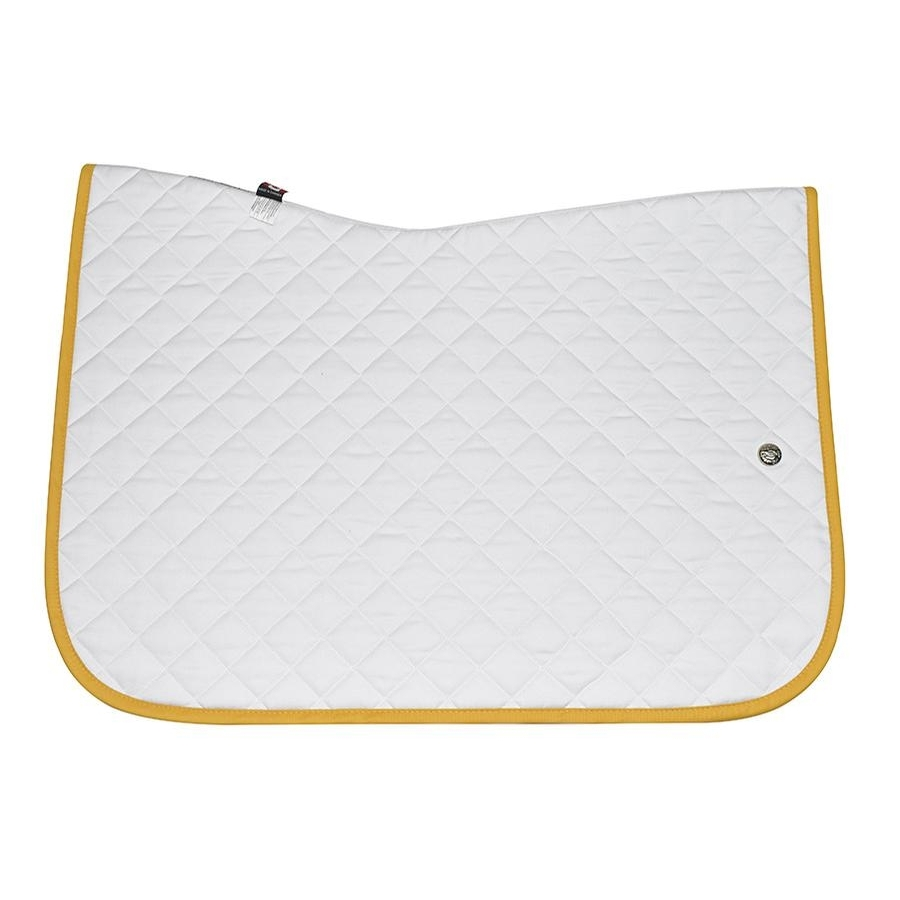 Jump Baby Pad without Girth Loops (White/Yellow Gold)