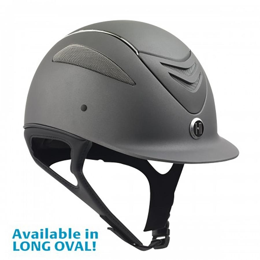 Defender Chrome Stripe Helmet (Grey Matte)