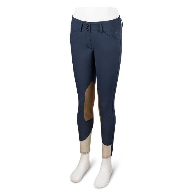 Girls Harrisburg Breech (Navy with Tan Patch)