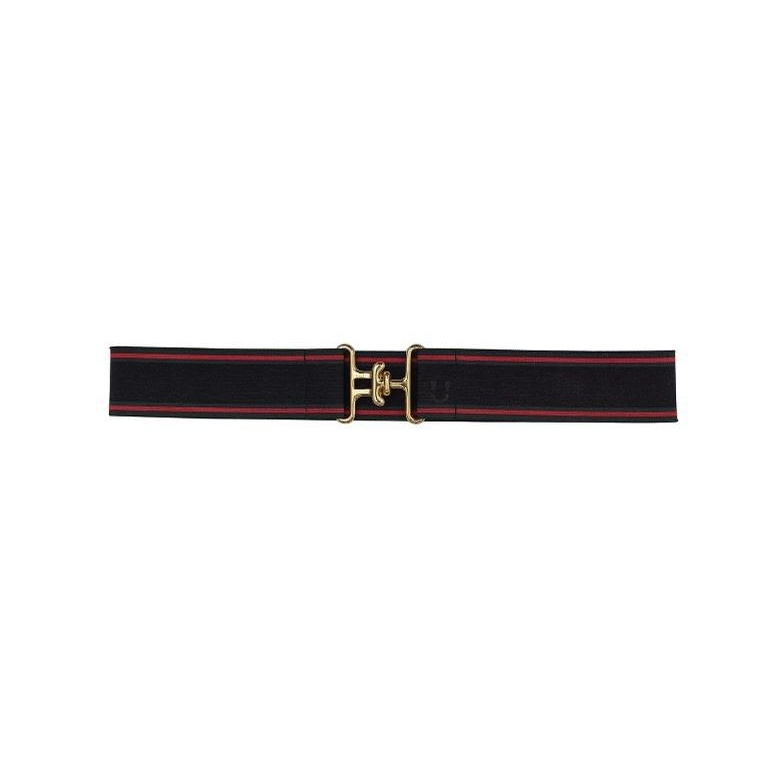 Surcingle Belt (Vintage Candy Stripe, Gold/Silver)