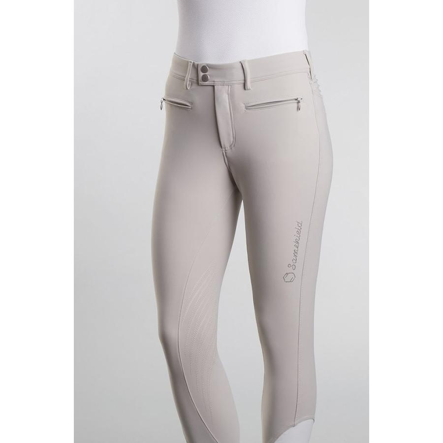 Ladies Adele Knee Patch Breech (Beige)