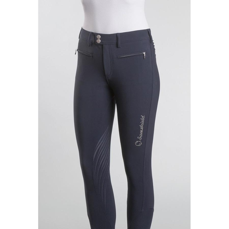 Ladies Adele Knee Patch Breech (Navy Blue)