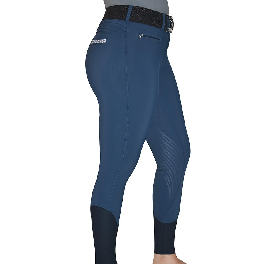 Ladies Adele Knee Patch Breech (Petrol Blue)