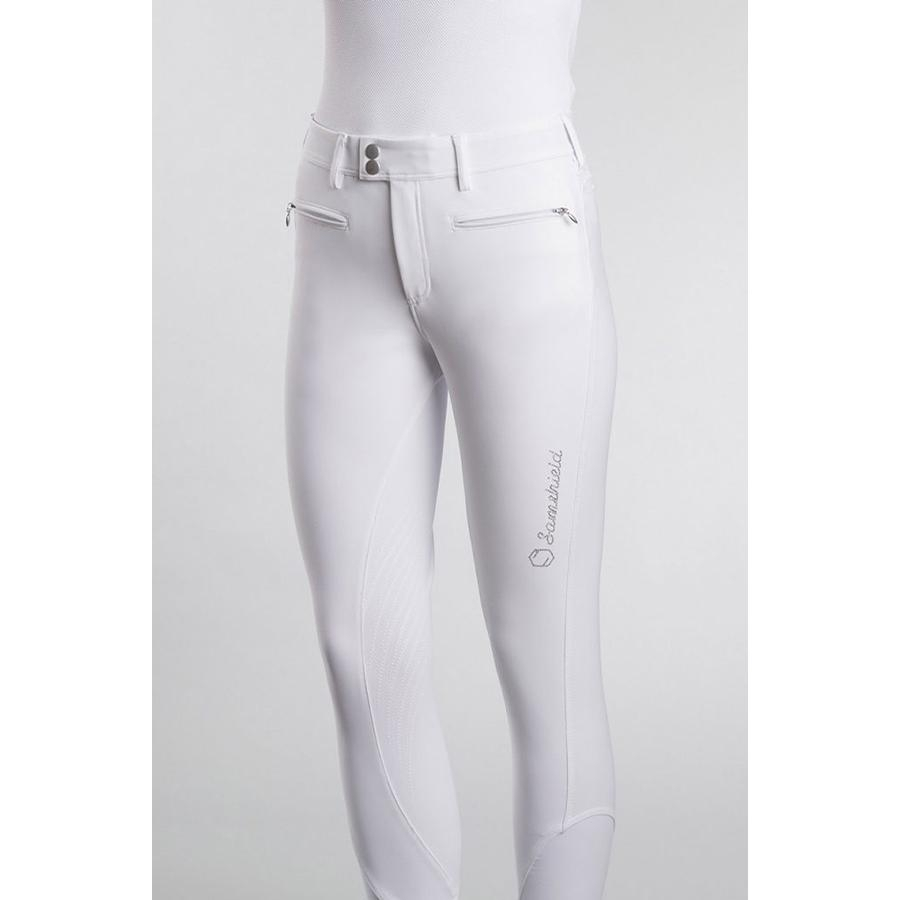 Ladies Adele Knee Patch Breech (White)