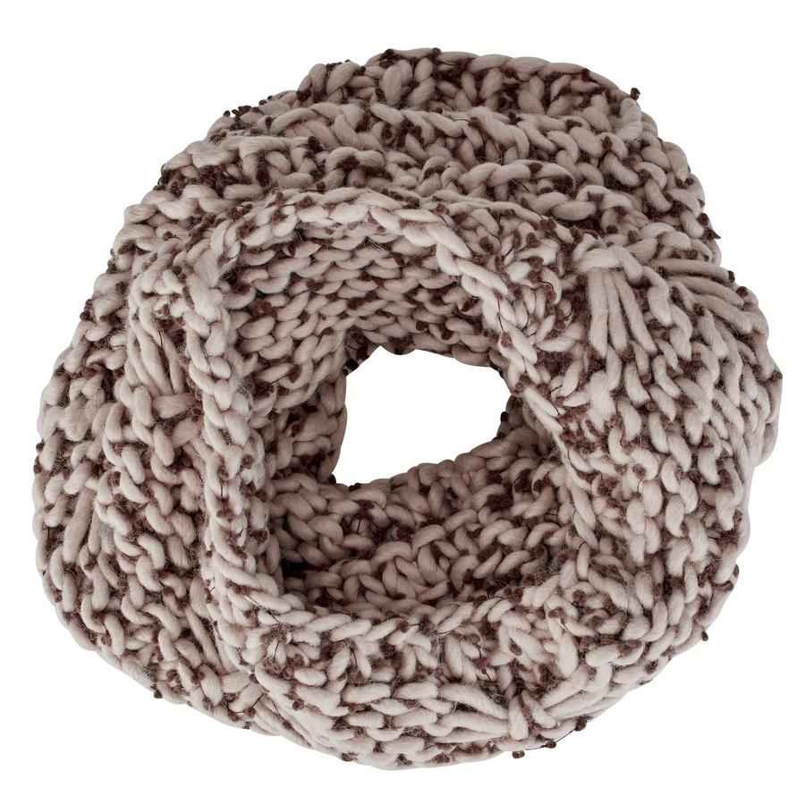 Ladies Chunky Crochet Infinity Scarf (Camel)