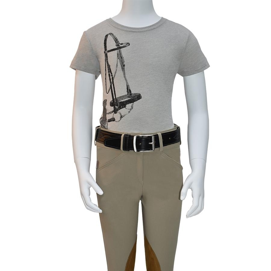 Girls Bridle-Glove Tee (Taupe)