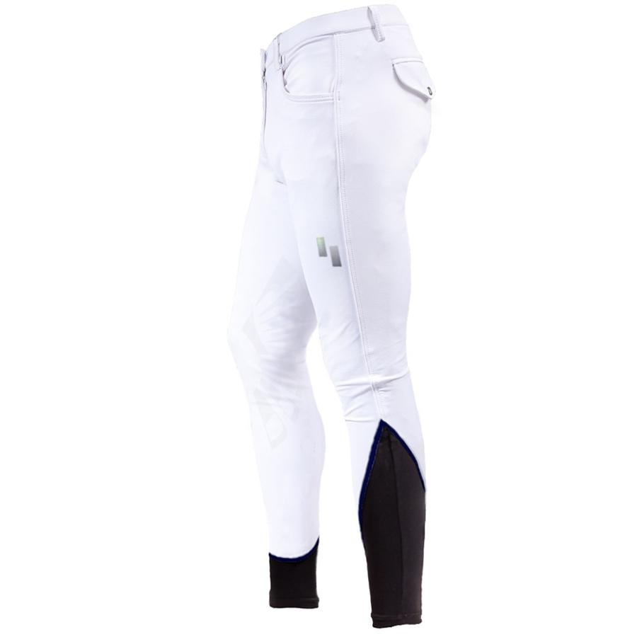 Mens 50 Series Knee Patch Breech (White)