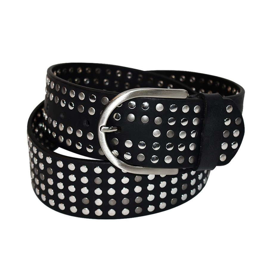 The Stud Belt (Black/Silver)