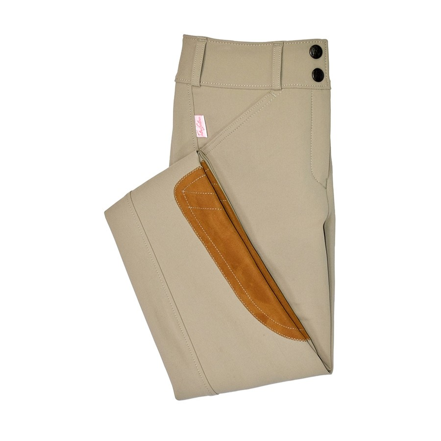 Girls Trophy Hunter Low Rise Front Zip Breech (Tan)