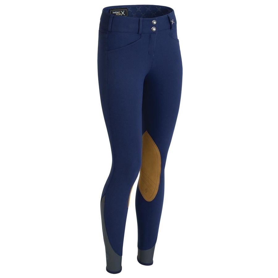 Ladies Solo Hunter Pro Knee Patch Breech (Azzura Blue)