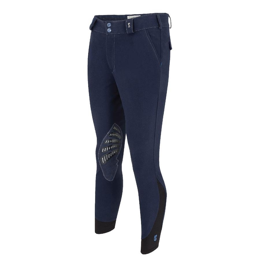 Mens Azzura Pro Knee Patch Breech (Navy Blue)