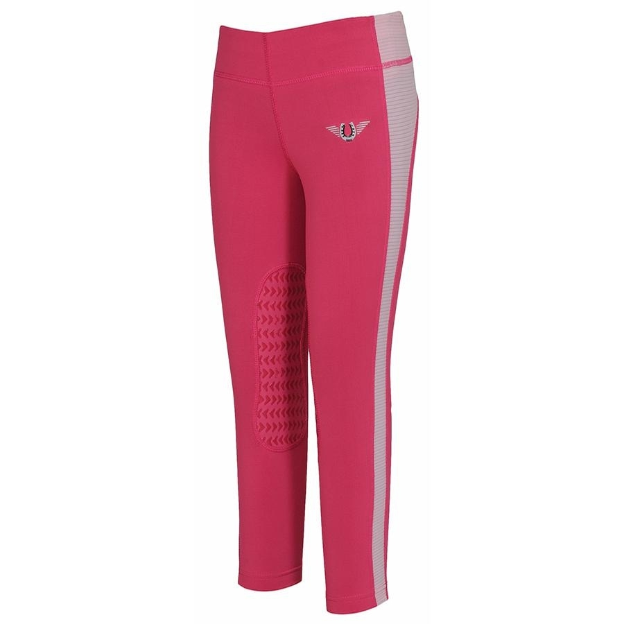 Childrens Ventilated Schooling Tights (Hot Pink/Pink)