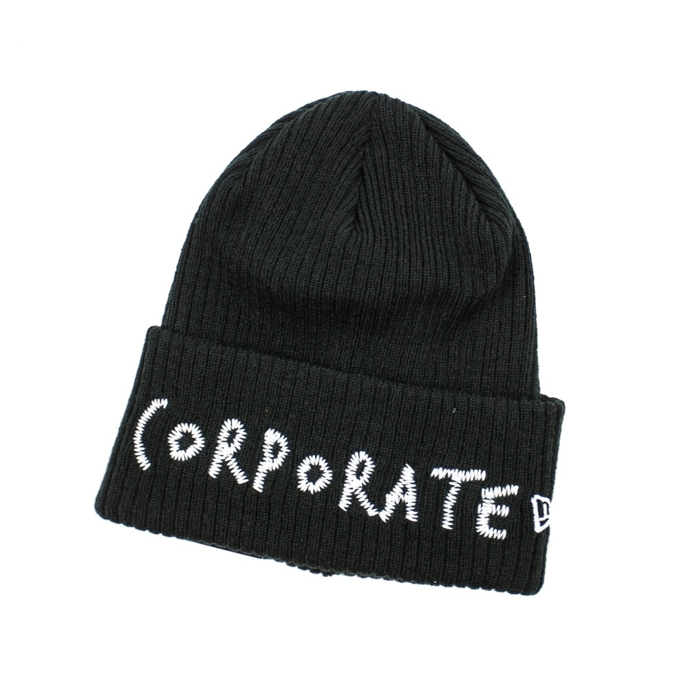 Corporate Corporate Stitched Beanie (Black)