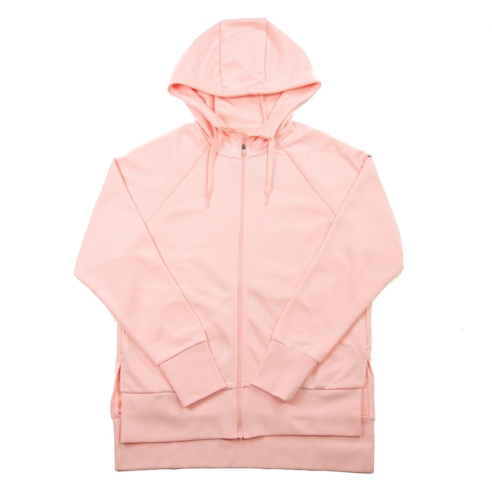 Funnel Neck Zip-Up Hoodie (Pink)
