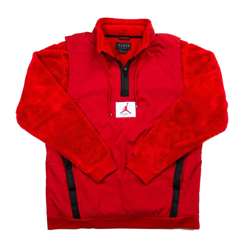 Wings Of Flight 1/4 Zip Fleece Jacket (Gym Red/Black)