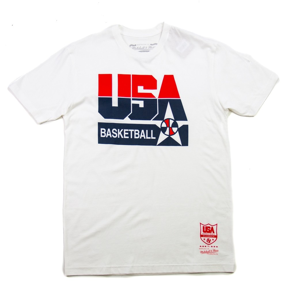 USA Basketball Logo Tee (white)