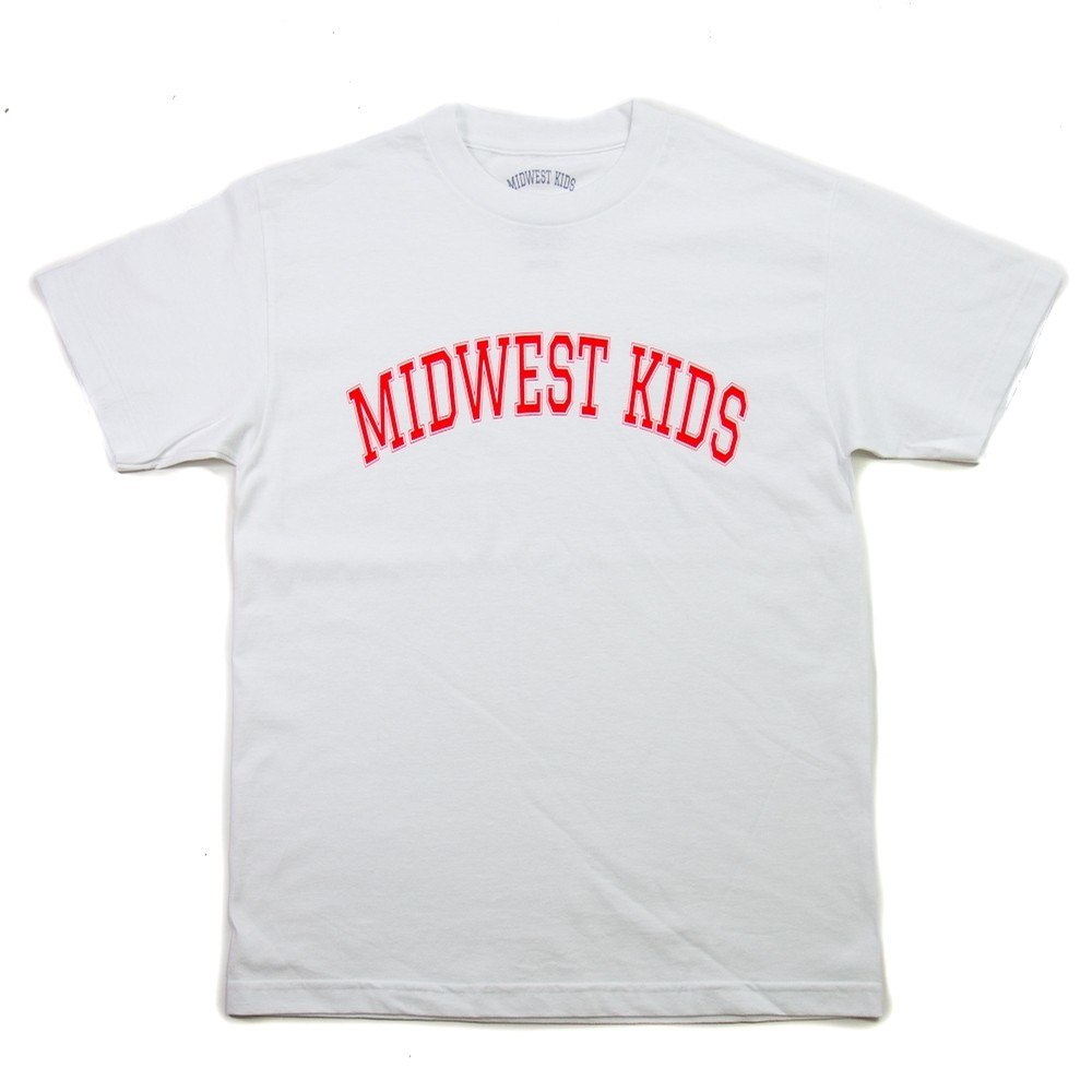 Midwest Kids Collegiate Letters Tee (White/Red)