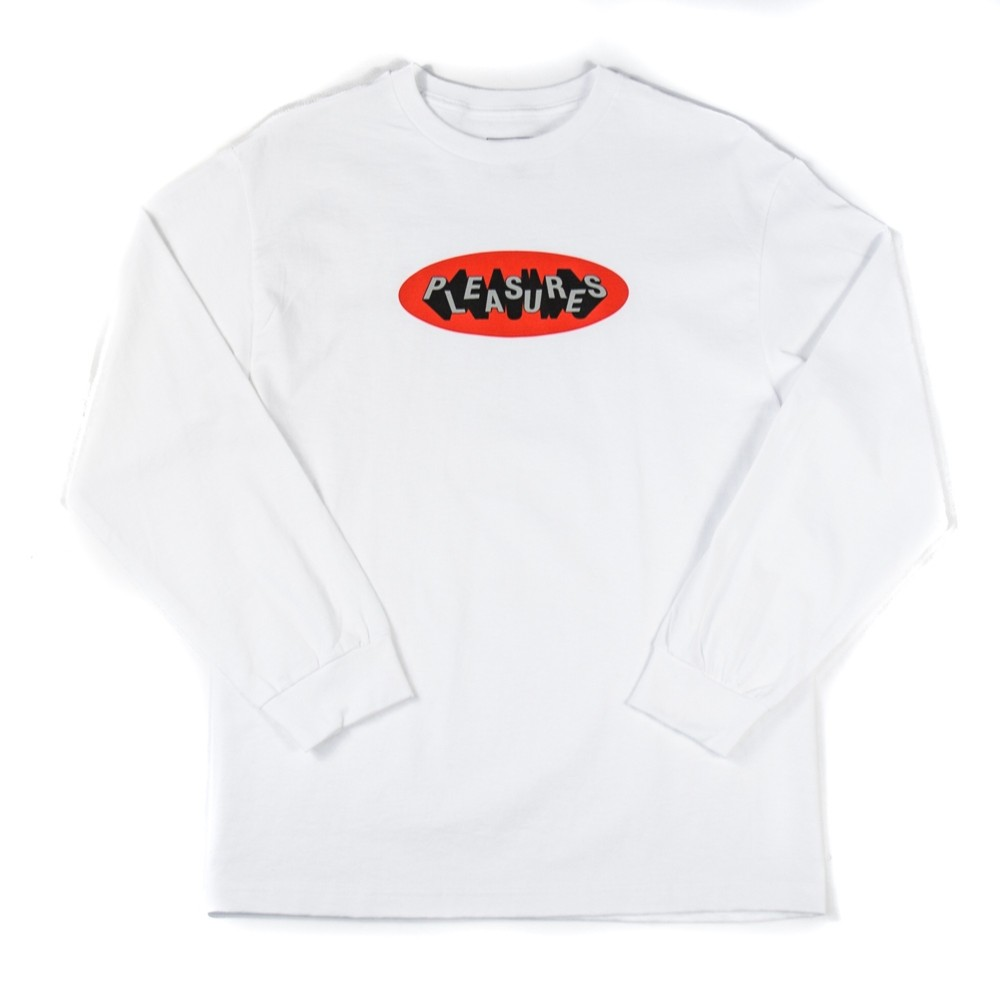 Pleasures 3D Logo LS T-Shirt (White)