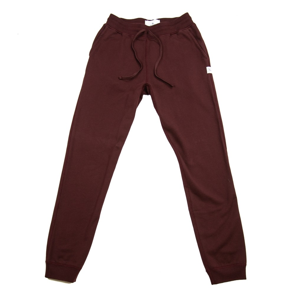 Knit Mid Wt. Terry Slim Sweatpant (Crimson)
