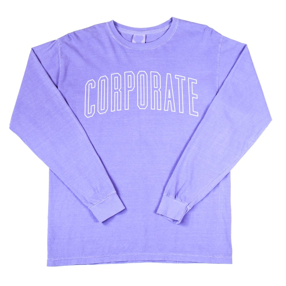 L/S Arch Outline Tee (Purple)