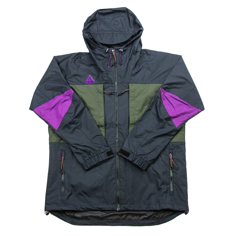 Nike ACG Anorak Jacket (Black/Sequoia/Purple)