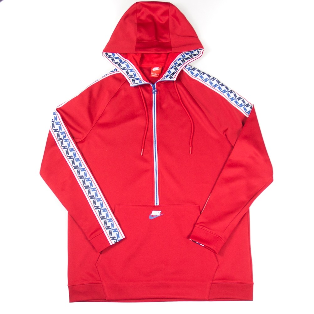 NSW Tape Half Zip Hoodie (Gym Red)