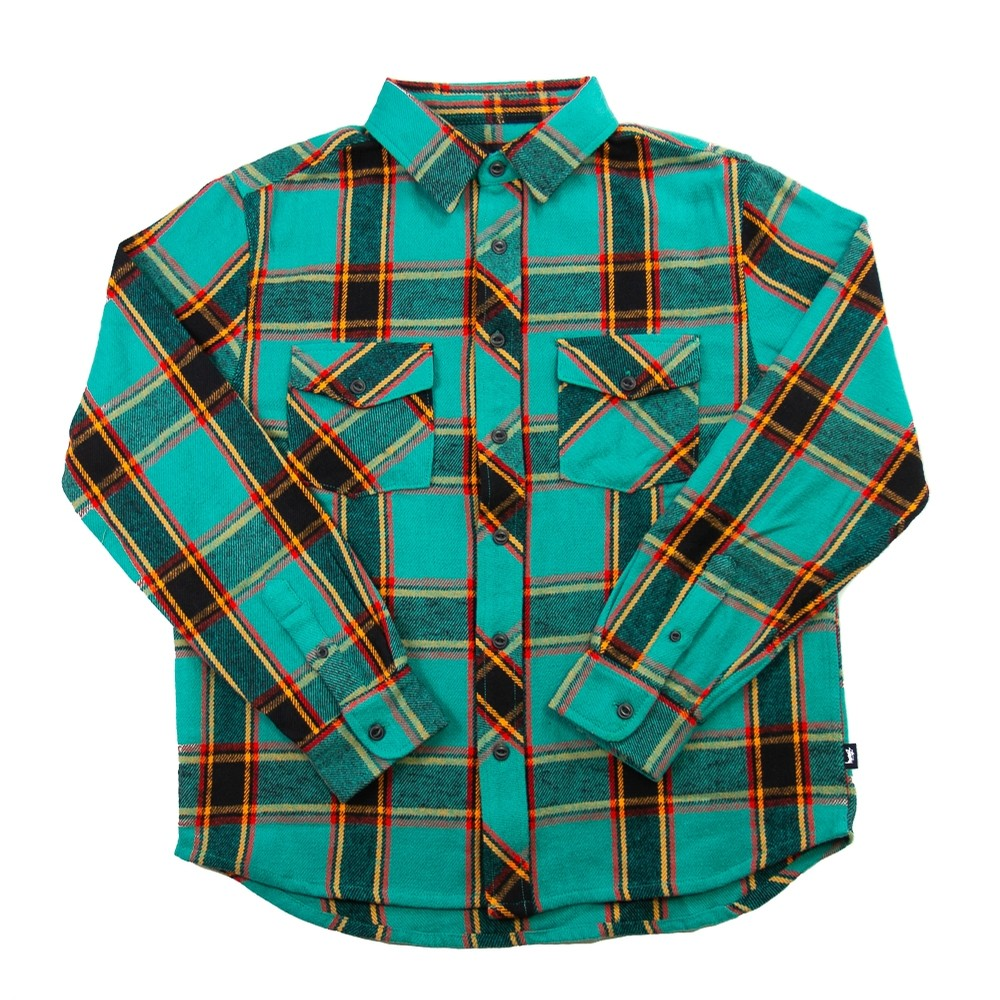 Ace Plaid L/S Shirt (Teal)