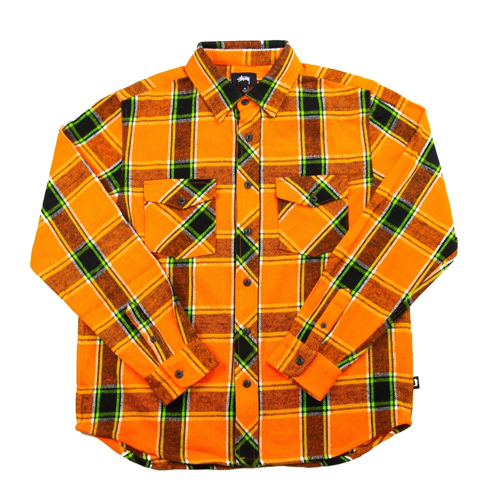 Ace Plaid L/S Shirt (Orange)