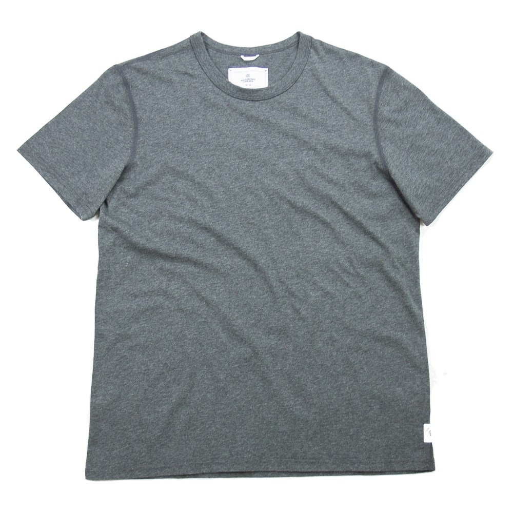 Reigning Champ Knit Ringspun Jersey Tee (Charcoal)