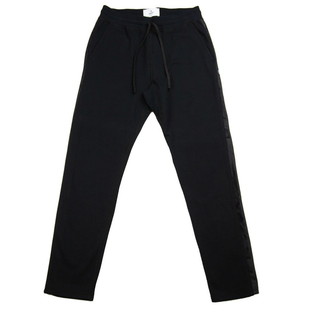 Midweight Terry Camo Stripe Pant (Black)