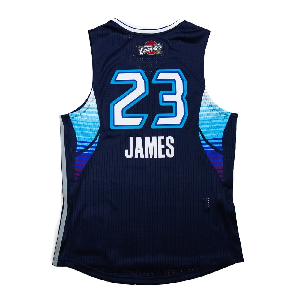 2009 Authentic All Star Lebron James Jersey (Blue)
