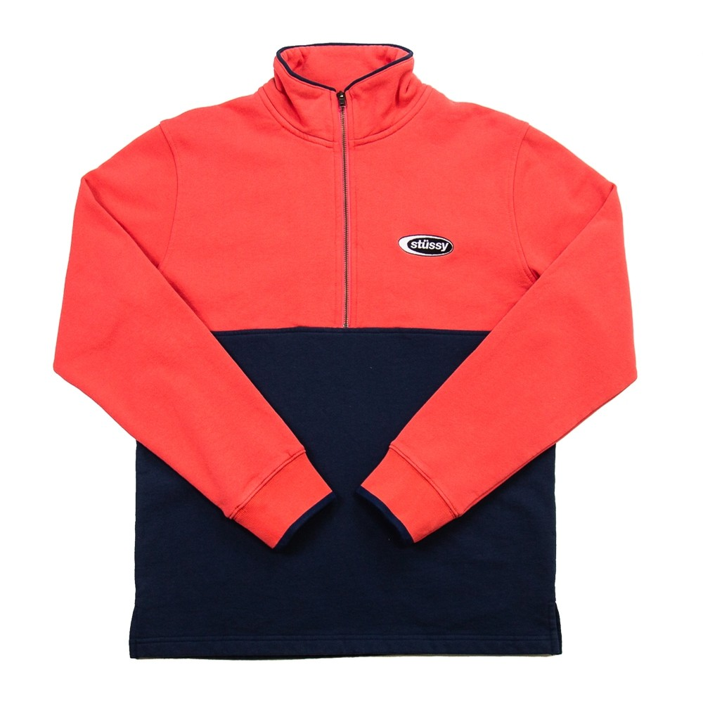 Two Tone Mock Neck (Coral)