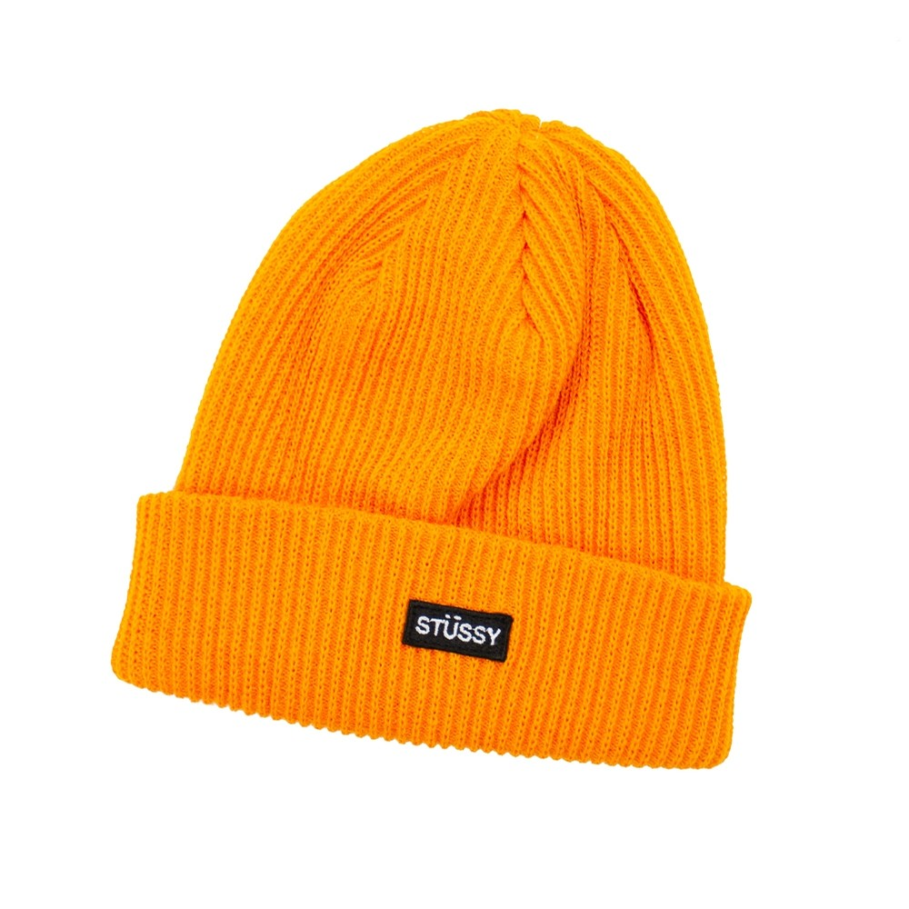 Stussy SP19 SM Watch Cap Beanie (Orange)