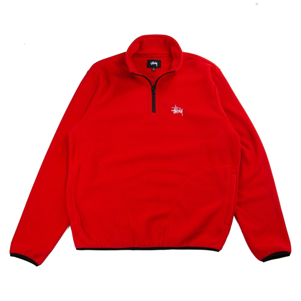Basic Polar Mock Fleece (Red)
