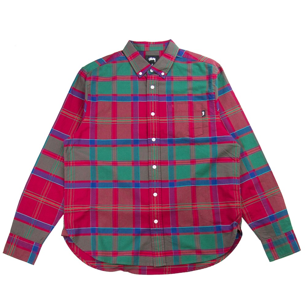 Classic Oxford Shirt (Red Plaid)