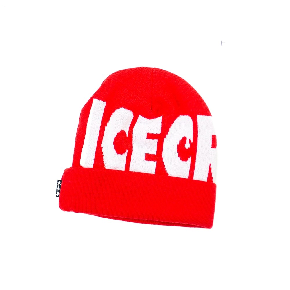 Ice Cream Wheelie Knit Hat (Tomato)