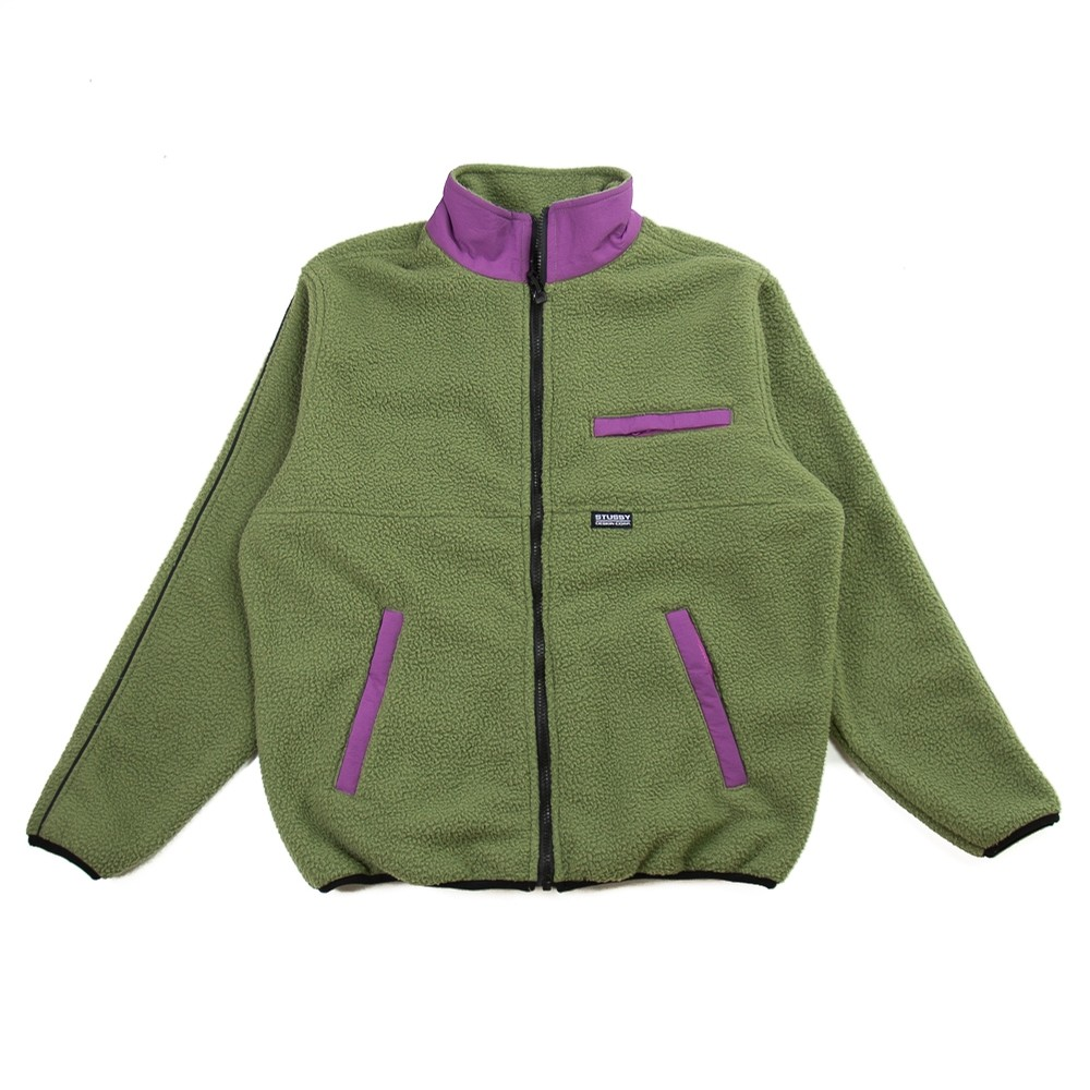 Nylon Mock Neck Jacket (Olive)