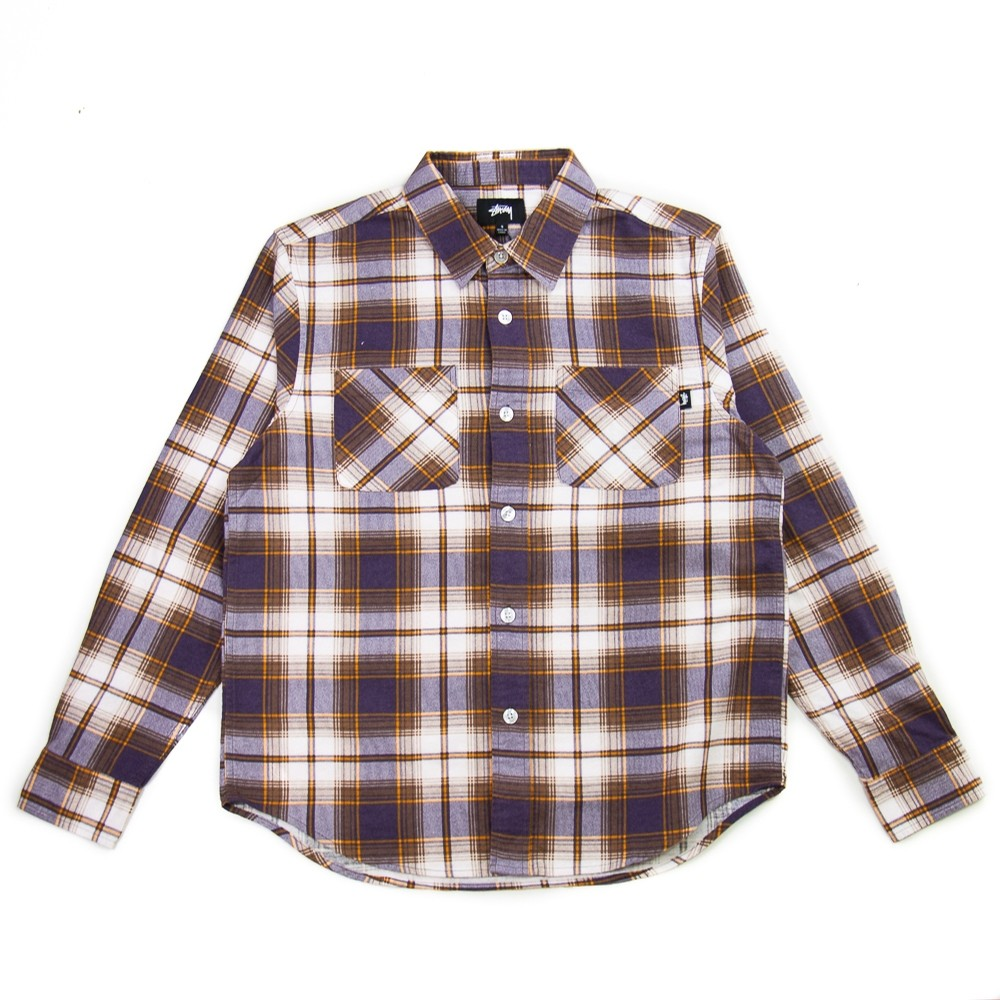Adam Plaid Shirt (Purple)