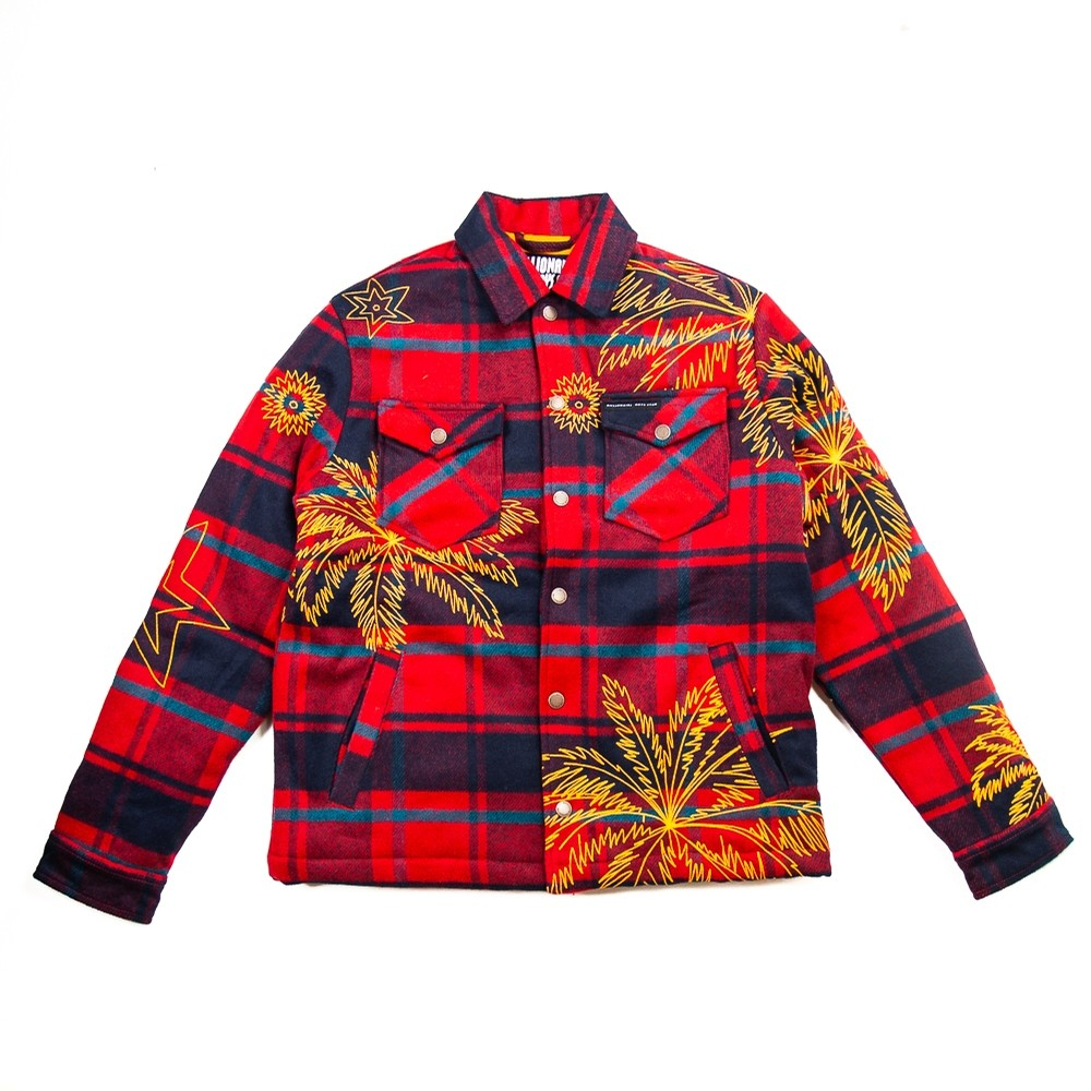 Sunset Plaid Jacket (Biking Red)