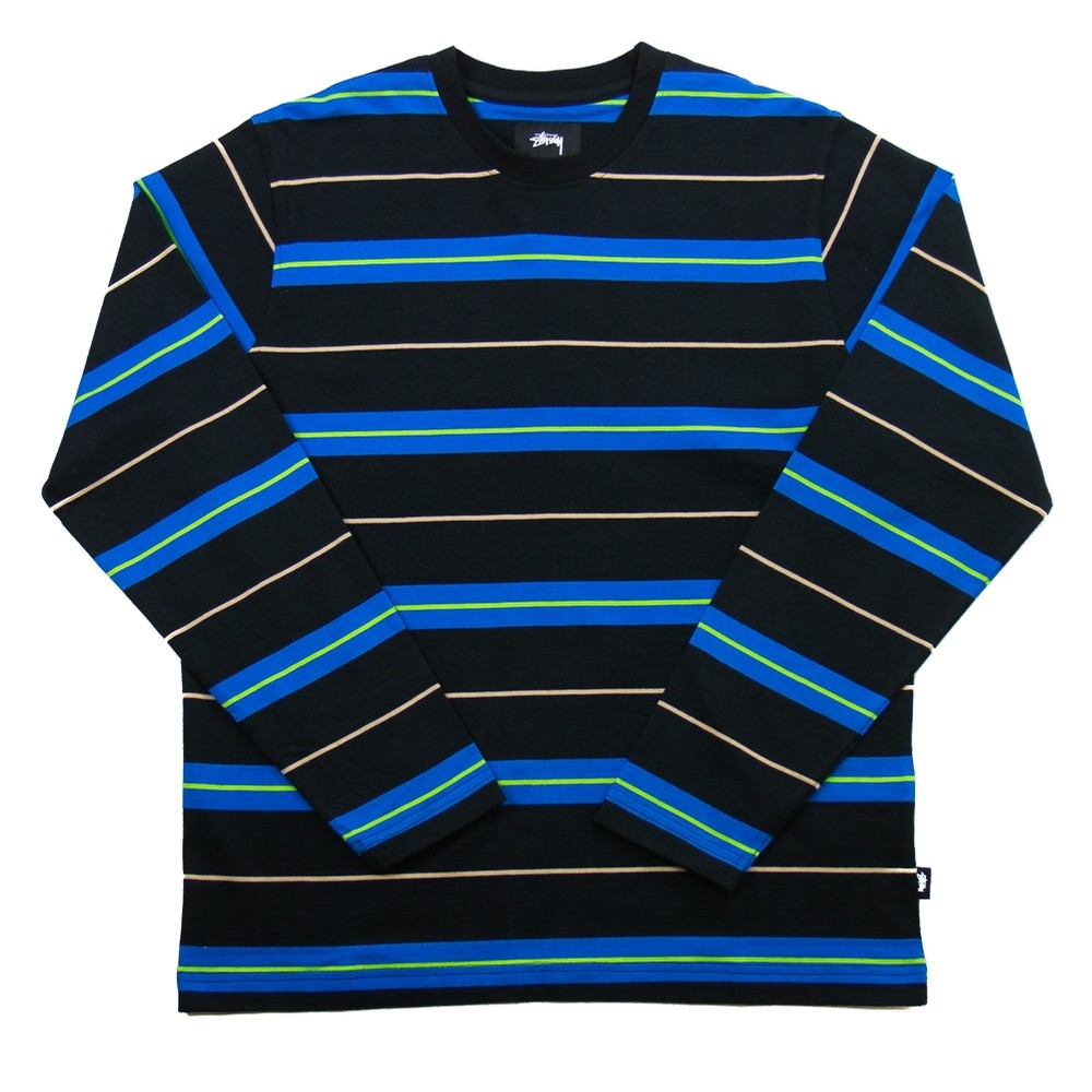 Stussy Joshua Striple LS Crew (Black)