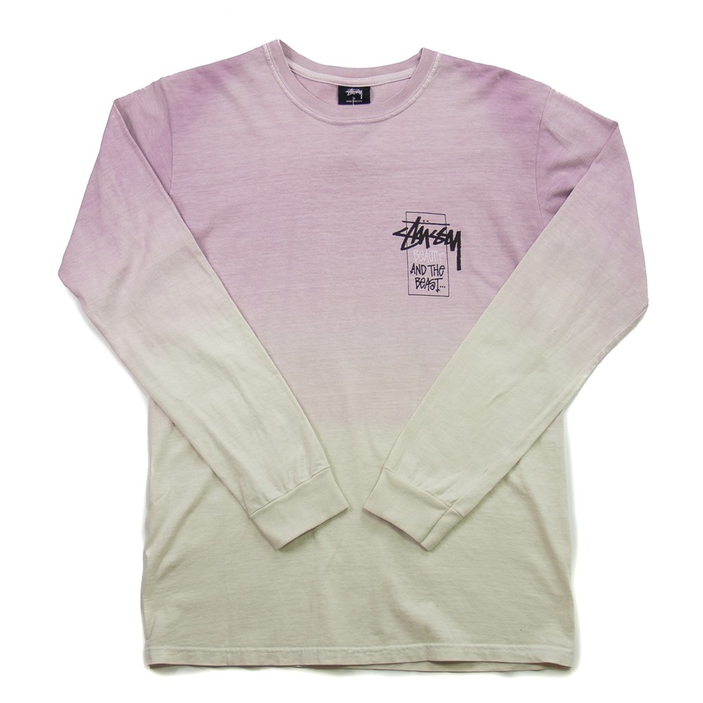 Stussy Offering Dip Dyed LS Tee (Purple)