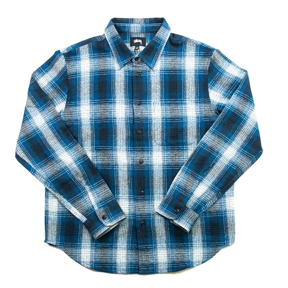 Alton Plaid LS Shirt (Indigo)