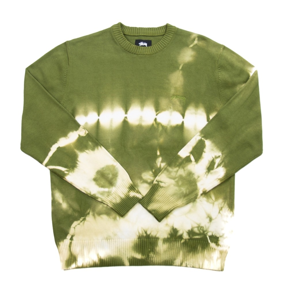 Bleached Dye Sweater (Olive)