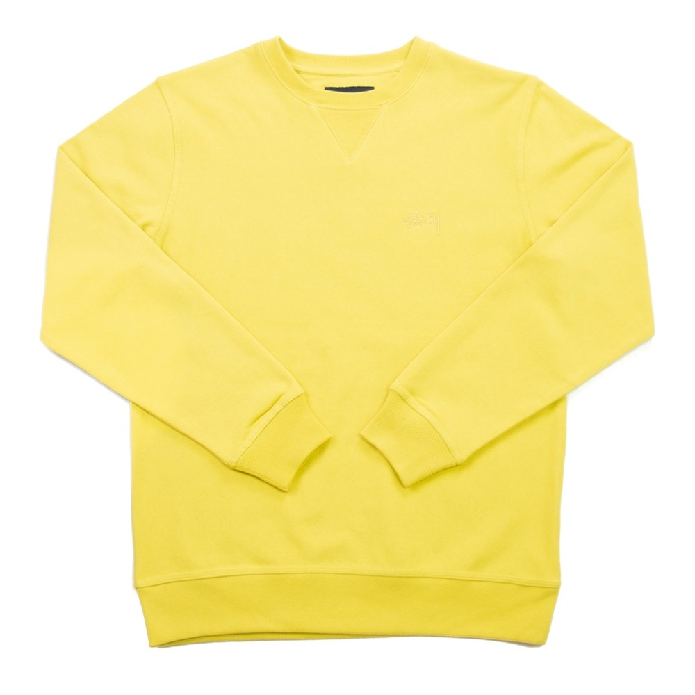 Stussy Stock LS Terry Crew (Lemon)