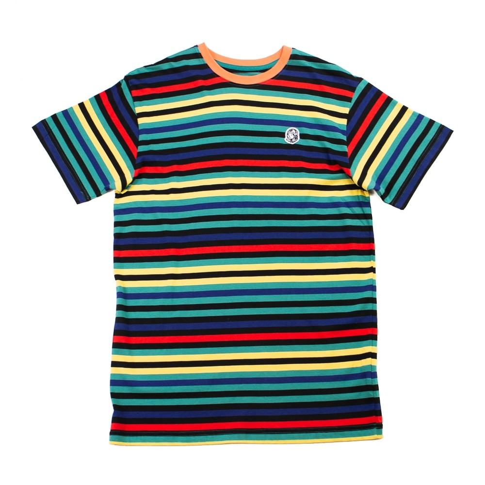 Stripe Knit Tee (Deep Jungle)
