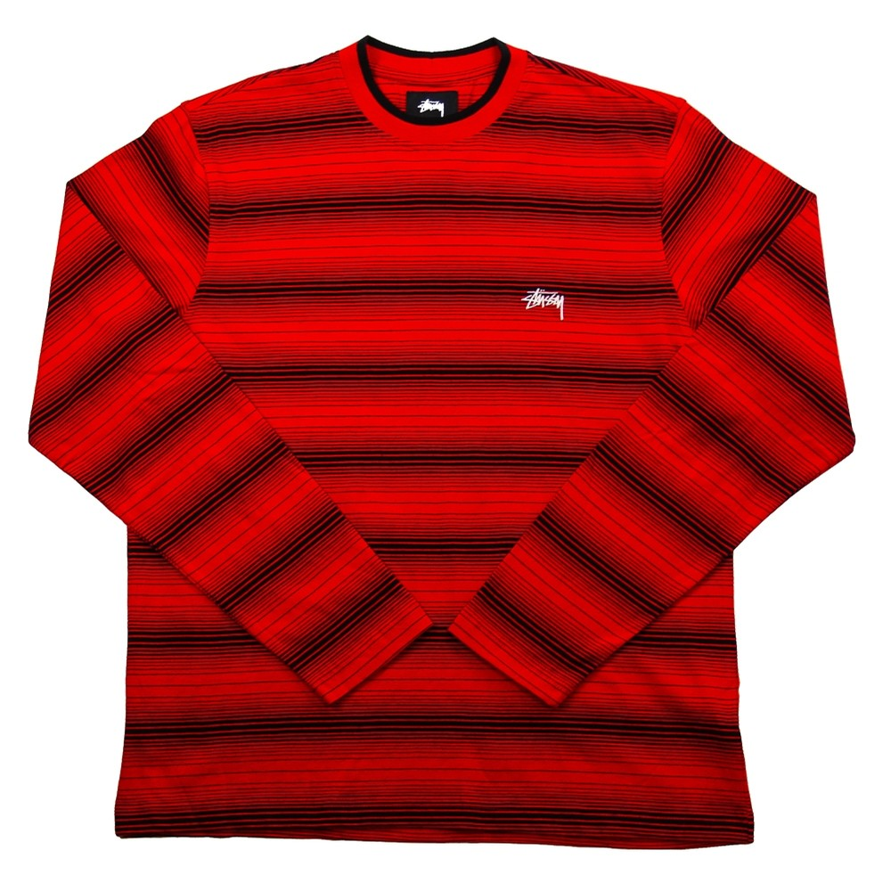 Ombre LS Crew (Red)