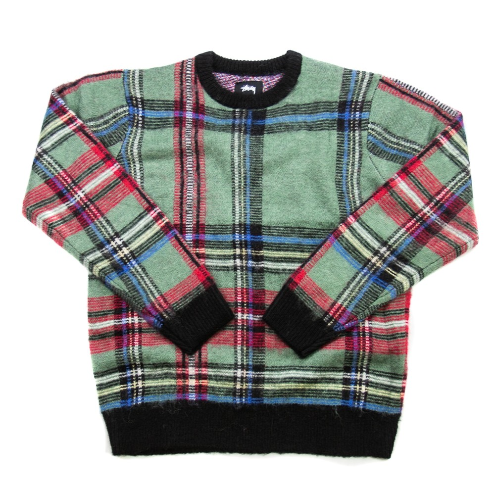 Plaid Mohair Sweater (Green)